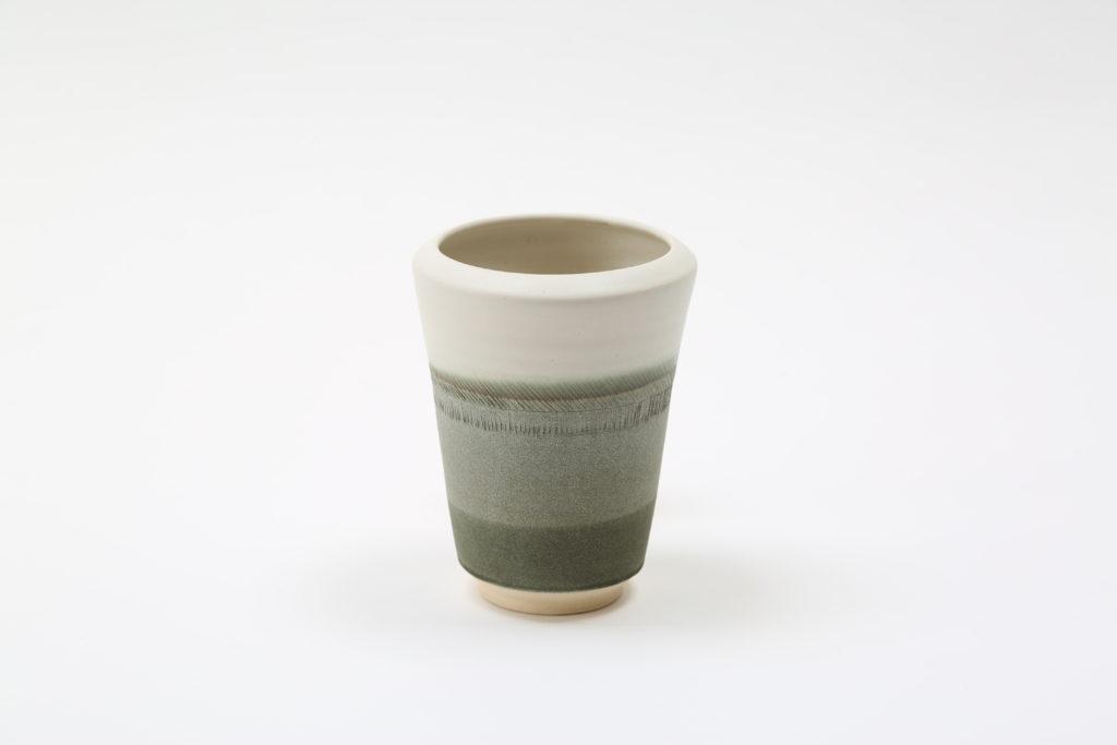 Tidal vase green grey
