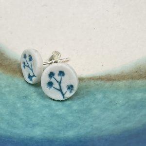 Cornish hedgerow earrings – Turquoise