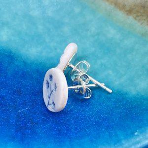 Cornish hedgerow earrings – soft grey