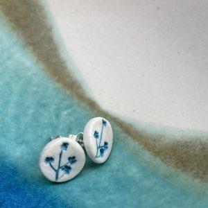 Cornish hedgerow earrings – Turquoise 2