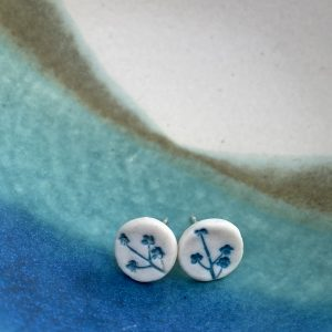 Cornish hedgerow earrings – Turquoise 2